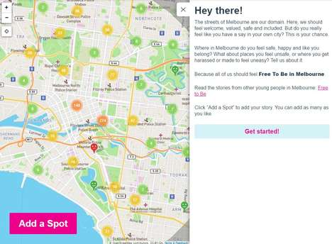 Harassment-Tracking Maps - 'Free to Be' is an Online Map for Women to Report Harassment