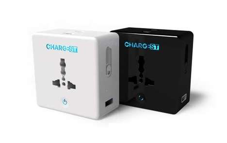 Smartphone Battery Adapter Docks - The 'ChargEST' Travel Adapters Streamline Charging During Travel