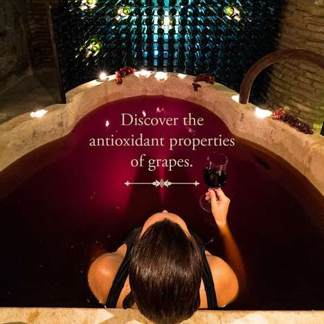 Wine-Soaked Spa Experiences - New York's Aire Ancient Baths Spa Offers a Luxurious Red Wine Bath