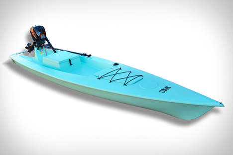 Versatile Fishing Vessels - The Solo Skiff Fishing Kayak is Engine-Powered and Has Lots of Storage