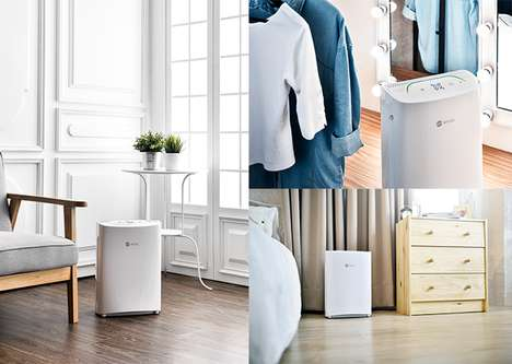 AI-Powered Air Purifiers - The 'BRISE' Air Purifier Cleaner Adjusts Itself for Quick Cleaning