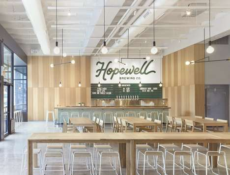 Contemporary Brewpub Interiors - Chicago's 'Hopewell Brewing Co.' is a Light and Airy Space