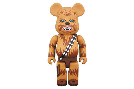 Furry Galactic Figurines - This Chewbacca Collectible from Medicom Toy is a Limited-Edition Release
