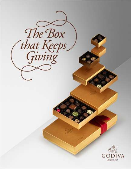 Shareable Chocolate Boxes - Godiva's Holiday Gift Box Re-Imagines the Practice of Re-Gifting