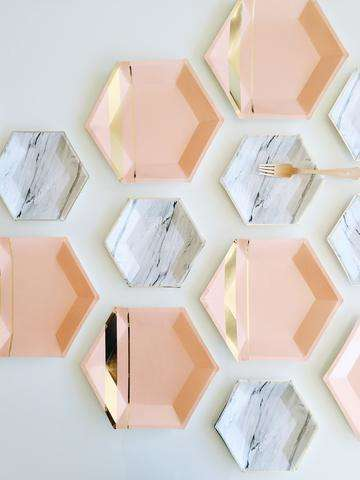 Hexagonal Paper Plates - Harlow & Grey Creates Aesthetically Pleasing Paper Party Plates