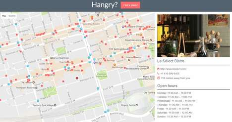 Randomized Restaurant Apps - The Hangry Website Helps Users Find a Nearby Place to Dine