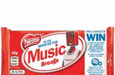 Music-Enabled Chocolate Wrappers - Shazam and Nestlé Designed This Interactive Promotional Packaging