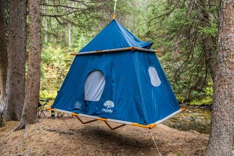 Floating Couples Camping Gear - The Treepod Camper Tent Has Enough Space for Two People