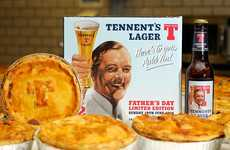 Lager-Infused Pie Promotions - 'Tennent's Lager' Offered Beer and Pie Packs for Father's Day