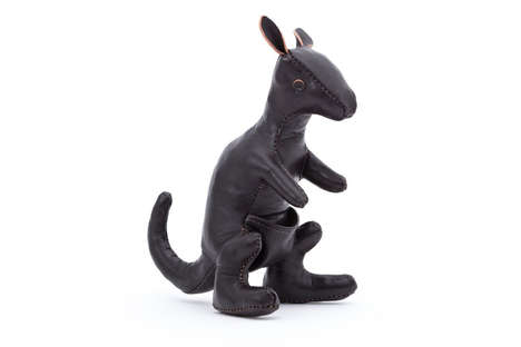 Handcrafted Leather Kangaroos - The Real McCoy's Miniature Animals Make for Elegant Home Accessories