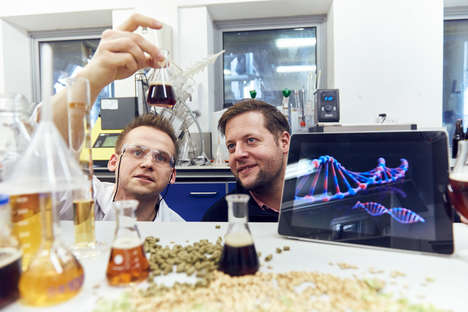 DNA-Based Custom Brews - D.N.ALE is a Beer Based on London Brewer Ciaran Giblin's DNA