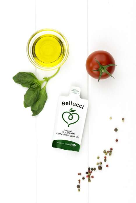 Single-Serve Oil Packets - Bellucci is Now Producing Individual Oil Sachets for On-the-Go Use