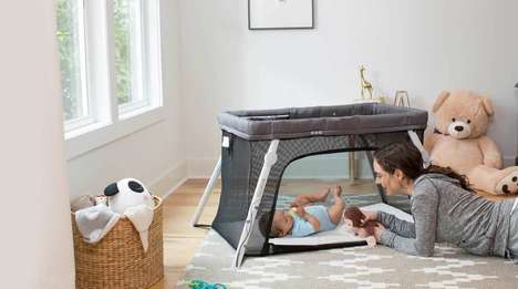 Backpack Baby Cribs - The Lotus Everywhere Travel Baby Crib Instantly Creates a Space for Infants