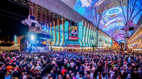 Neon-Clad Entertainment Districts - Las Vegas' Fremont Street Experience is a Multisensory Adventure