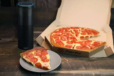 Voice-Activated Pizza Deliveries - Pizza Hut and Amazon's Partnership Allows Ordering Through Echo