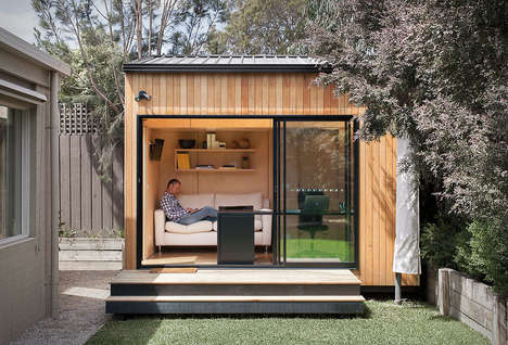 Mini Backyard Offices - The Backyard Room Aids Workers in Their Quest to Stay Home