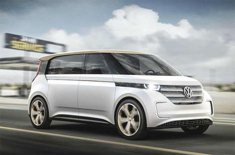 Modernized Retro Commuter Vans - The Volkswagen MPV Microbus Van Features a Liquid-Cooled Battery