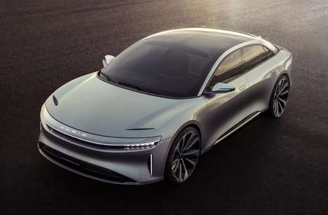 Electric Competitor Sedans - The Lucid Motors 'Air' Luxury Electric Vehicle Was at the LA Auto Show