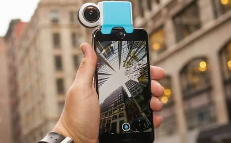 Detachable VR Smartphone Cameras - The 'Giroptic iO' 360 Cameras Transform iPhones and iPads