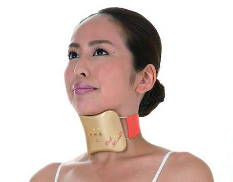 Wearable Wrinkle-Reducing Gadgets - This Japanese Device Targets the Formation of Neck Wrinkles