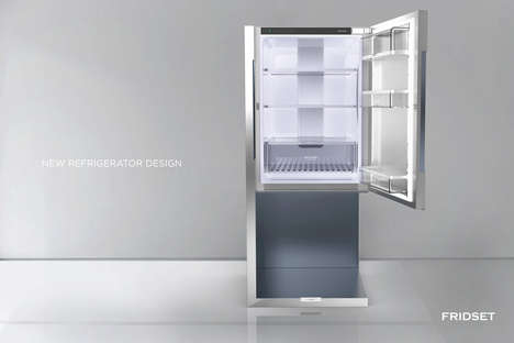 Suspended Refrigerator Designs - The 'FRIDSET' Refrigerator Eliminates Clunky Aesthetics