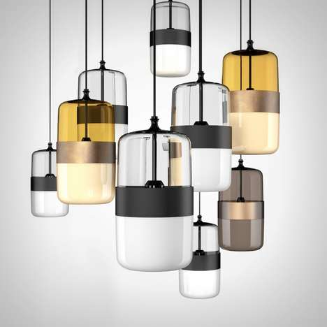 Handicraft Pendant Lights - The 'Futura' Hanging Lighting Design Draws Inspiration from Many Sources
