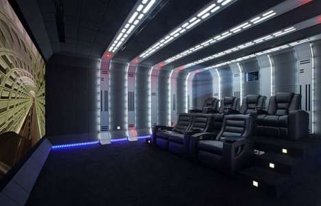 Intergalactic Franchise Home Theaters - This Zene Private Cinema is Designed with a Star Wars Theme