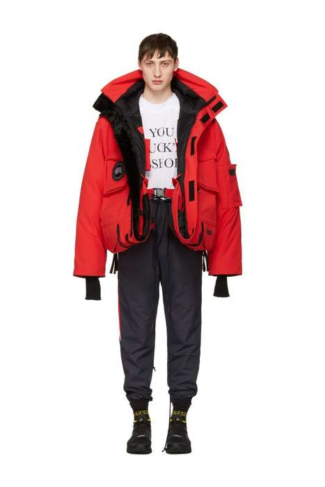 Oversized Winter Parkas - The Vetements x Canada Goose Jackets are Conceptually Modern