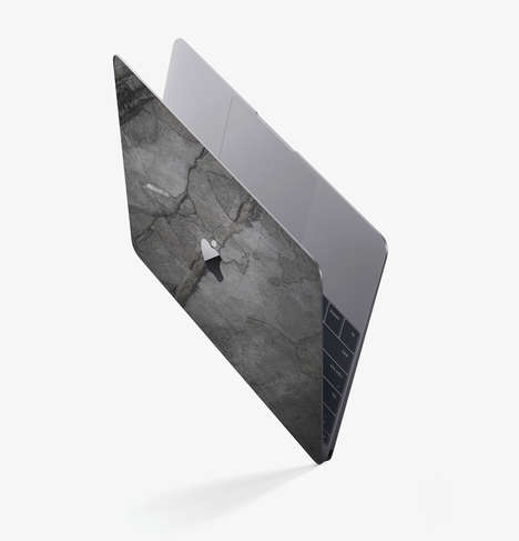 Stone Slab Laptop Skins - The ROXXLYN MacBook Tech Cases are Created Using Natural Elements