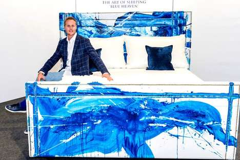 Humidity-Absorbing Healthy Beds - The 'Blue Heaven' Bed by Conor Mccreedy is Health-Focused