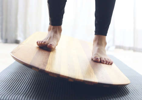 Yoga Balance Boards - The MYB Yogaboard Strengthens One's Sense of Balance and Improves Control