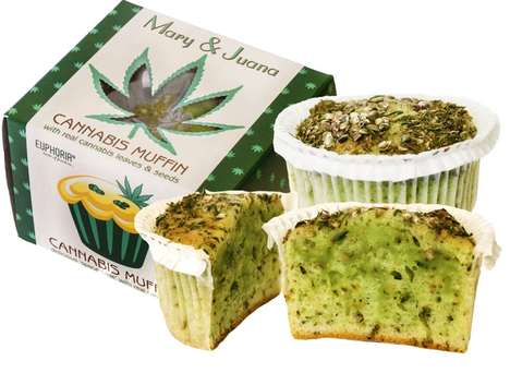 Single-Serve Cannabis Muffins - These Mary & Juana Muffins are Made with Cannabis Leaves and Seeds
