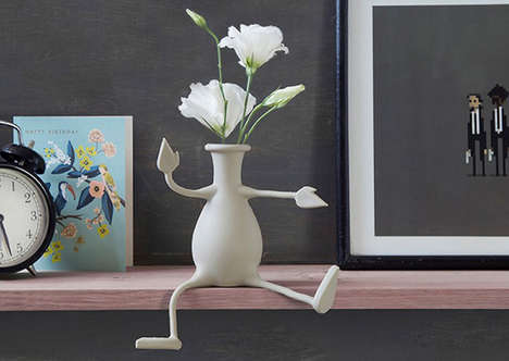 Anthropomorphic Flower Vases - The 'Florino' Table Vase Has Arms and Legs for Gripping Objects