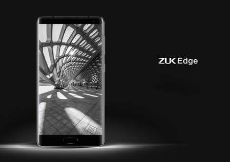 Thinly Bezeled Smartphones - The ZUK Edge Has a 86.4 Percent Screen-to-Body Ratio