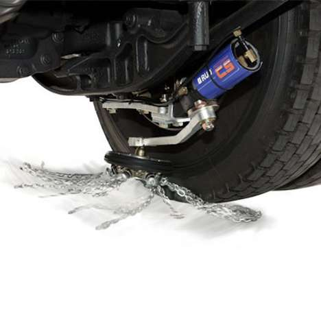 Automated Tire Chain Systems - The 'ROTOGRIP' Automatic Snow Chain System Provides Added Traction