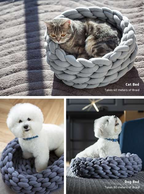 12 DIY Furniture Ideas - From Repurposed Slat Shelving to DIY Chunky Knit Pet Beds