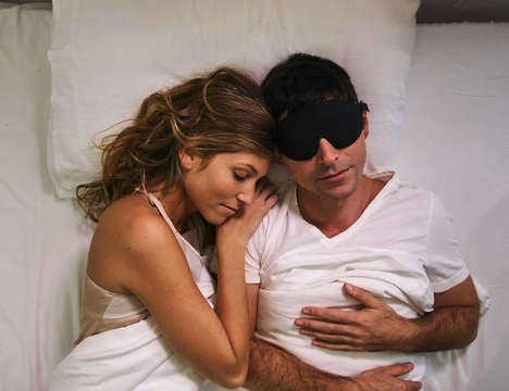 Snore-Cancelling Sleep Masks - The Silent Partner Sleep Mask Eliminates Snoring Sounds