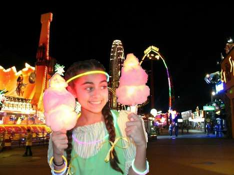 Rainbow LED Candy Sticks - The Super Glow Cotton Candy Cones Illuminate in Eight Different Modes