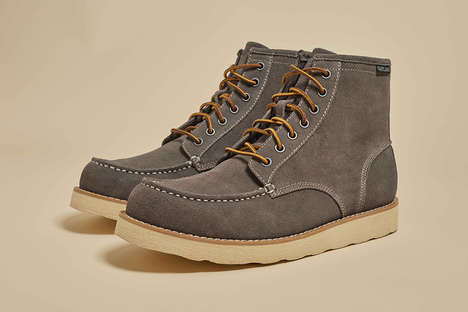 Refined Gray Work Boots - These Winter Boots from 'Five Four' and 'Eastland' are Simple and Stylish