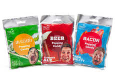 Gourmet Popping Candy - Treat Factory Popping Candy Comes in Wasabi, Beer, and Bacon Flavors