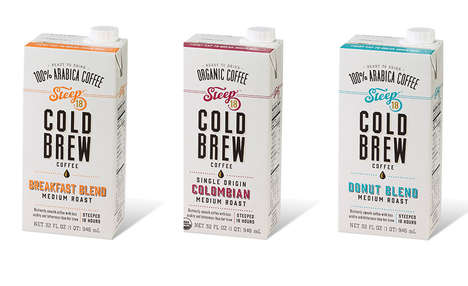 Potent Artisanal Cold Coffees - The STEEP 18 Cold Brew Coffee Varieties are Steeped for 18-Hours