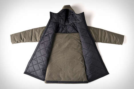 Packable Homeless Jackets - The 'Empwr' Water-Resistant Jacket Converts into a Sleeping Bag