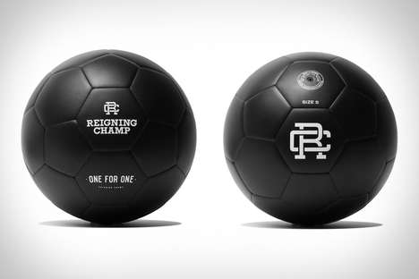 Social Good Soccer Balls - The Reigning Champ One for One Black Soccer Ball Supports Sports Programs