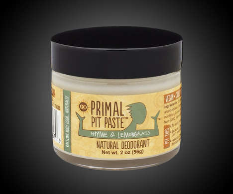 Chemical-Free Deodorants - The Primal Pit Paste All-Natural Deodorant is Free of Parabens and GMOs