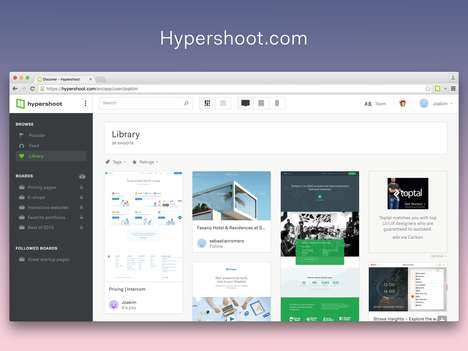 Visualized Bookmark Platforms - 'Hypershoot' Organizes Your Favorite Websites in a Visual Manner