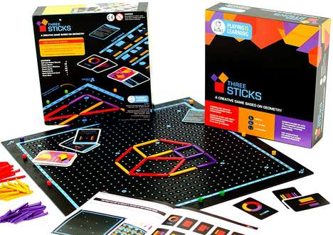 Educational Geometric STEM Games - The Kitki 'THREE STICKS' Math Game Teaches Boys and Girls