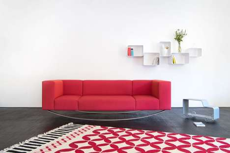Swaying Sofa Designs - The Extranorm 'Equilibriste' Rocking Sofa Adds Movement to Furniture