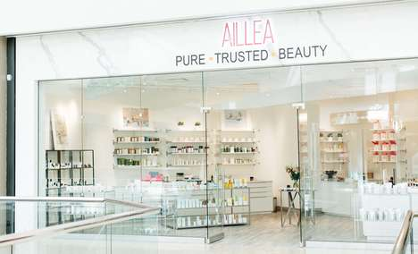Understated Beauty Shop Branding - AILLEA's Boutique Boasts a Minimalist and Elegant Interior