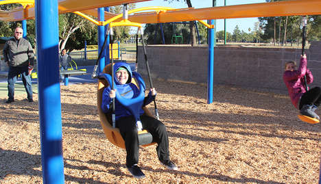 Universally Accessible Playgrounds - Dobson Ranch Park Features Inclusive Play Structures