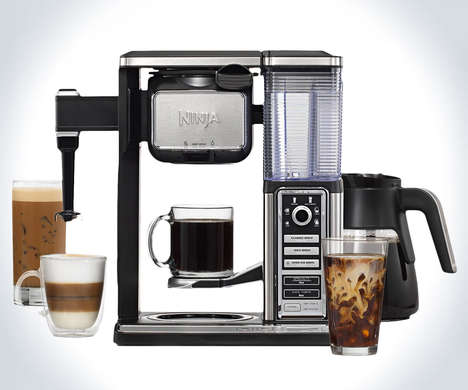Versatile Specialty Coffee Machines - The Ninja Coffee Bar Glass Carafe System is All-in-One